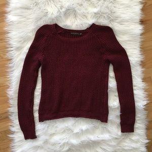 Brandy-Melville Burgundy OS Sweater
